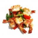 Crevettes sautées au sel et poivre